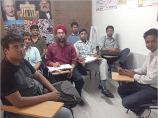 Mr. Pramjeet Singh and other students at ELS Campus