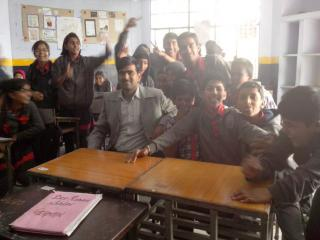 Dev sir with students in KV