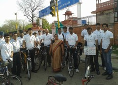 Cycle Rally from Rajasthan University