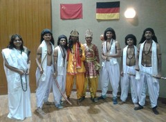 Mahabharat Skit in German